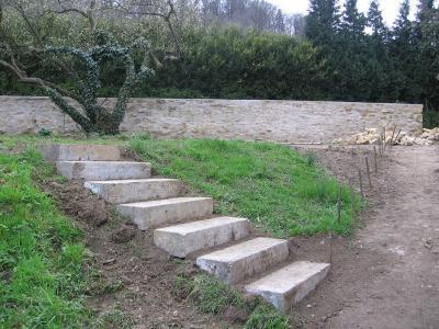 Le v mont en 2008 for Escalier en pierre jardin